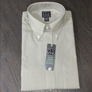 NEW Jos. A. Bank olive checkered dress shirt